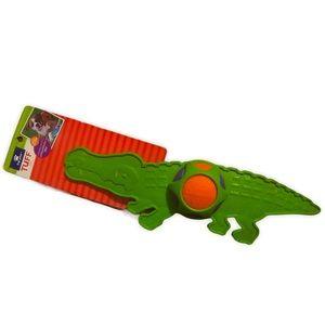 Top Paw Green Alligator, Tennis Ball TUFF Dog Toy